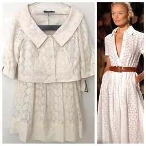 HP 🎉 NWT Jon Cream Eyelet Suit Jacket and Skirt 8
